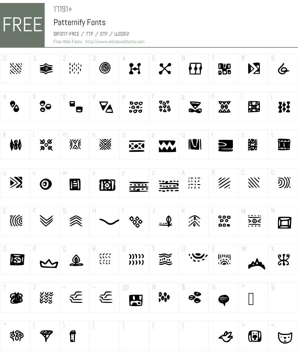 Patternify Font Screenshots