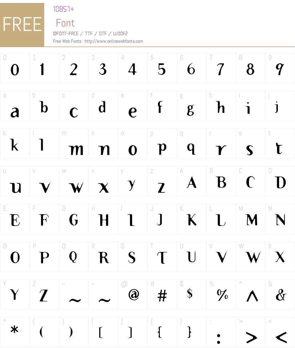 TemaCantante Font Screenshots