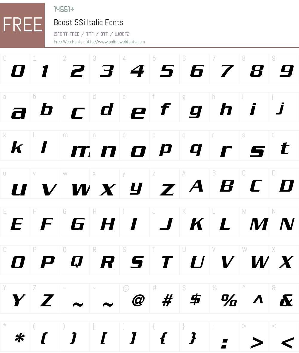 Boost SSi Font Screenshots