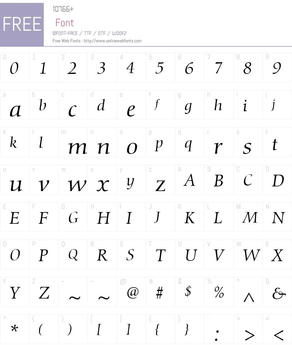 Diotima Classic Font Screenshots