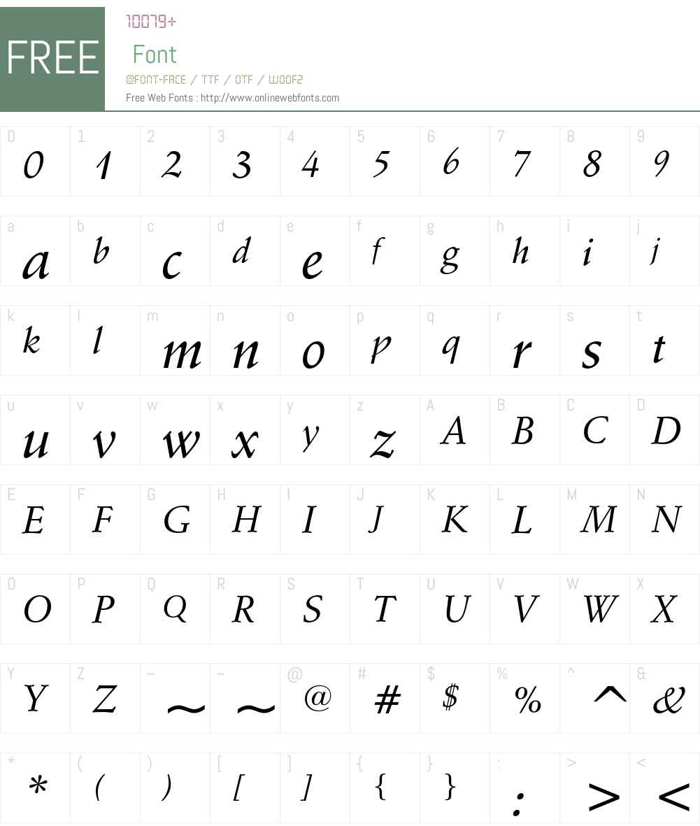 Schneidler Font Screenshots