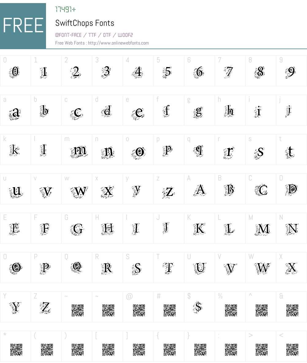 SwiftChops Font Screenshots