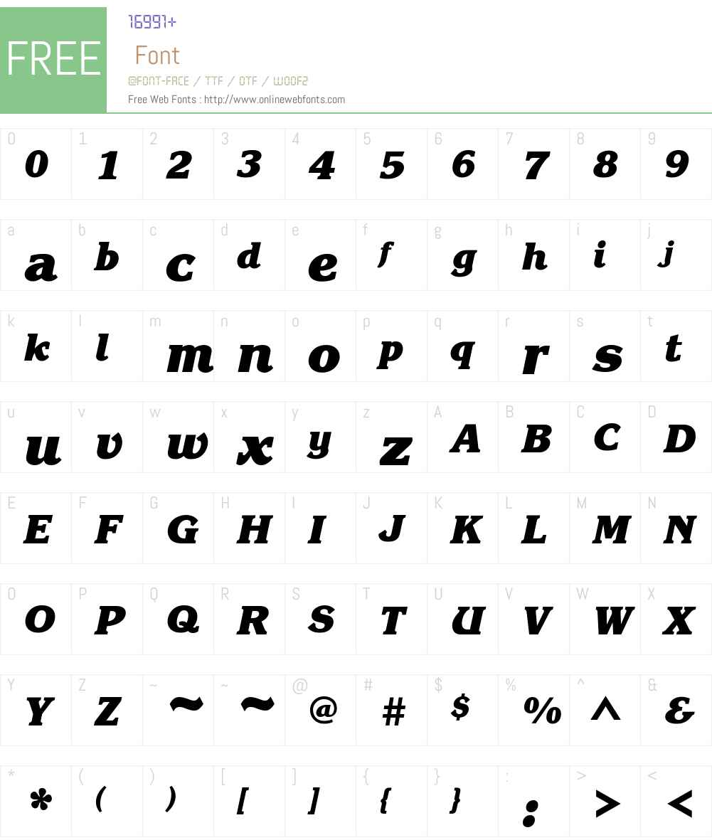 ITC Korinna Font Screenshots