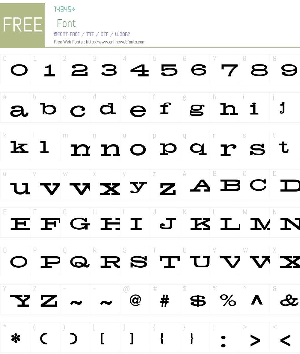 Helenic Font Screenshots