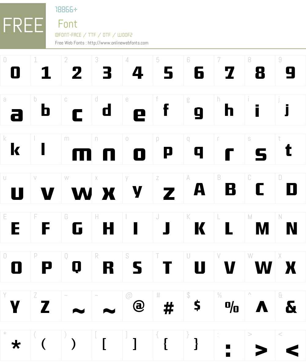DistrictTF-Medium Font Screenshots