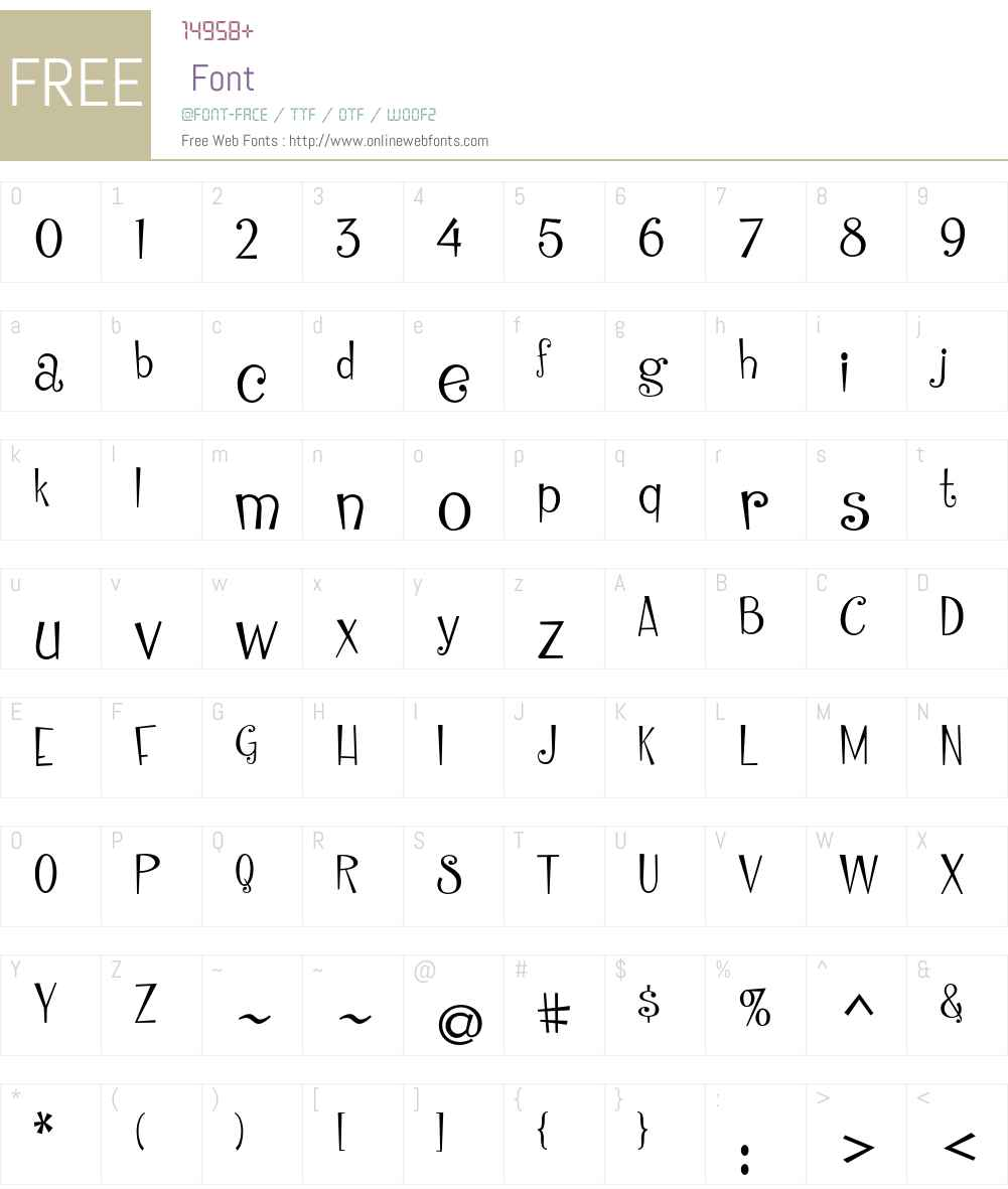 Cinderella ITC Std Font Screenshots