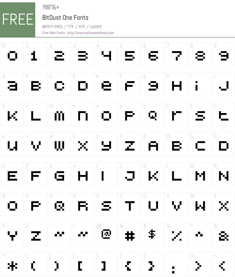 BitDust One Font Screenshots