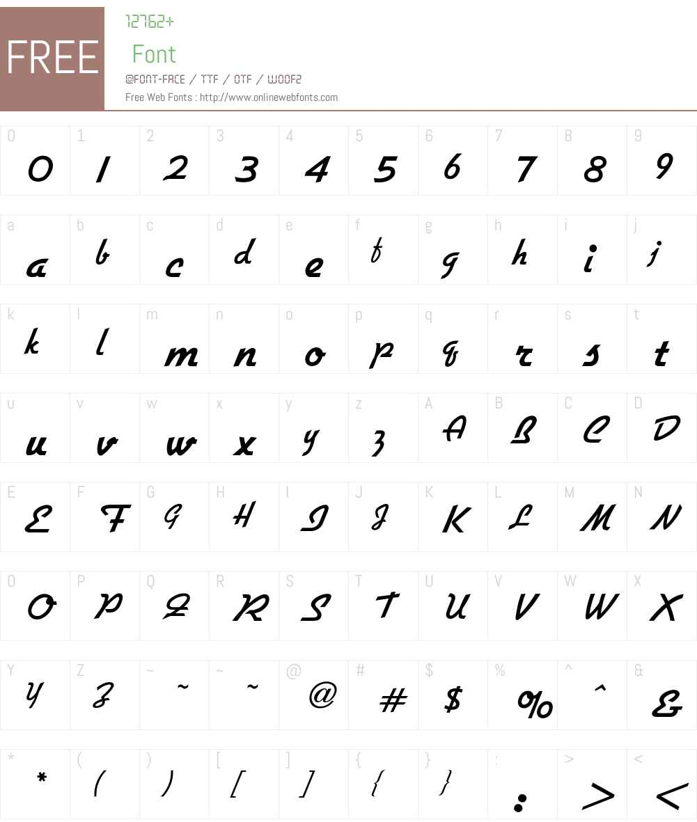 Gillies Font Screenshots