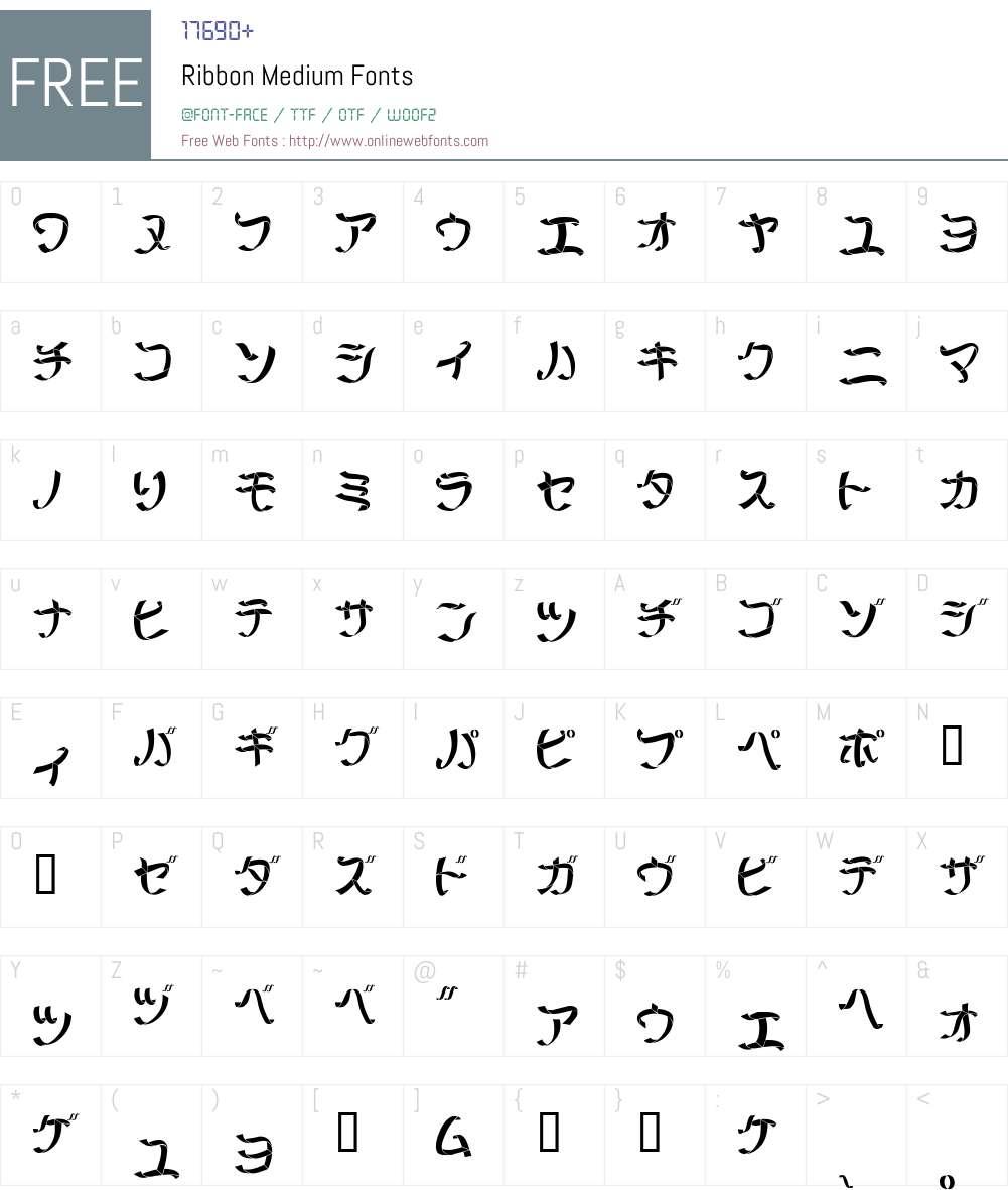 Ribbon Font Screenshots