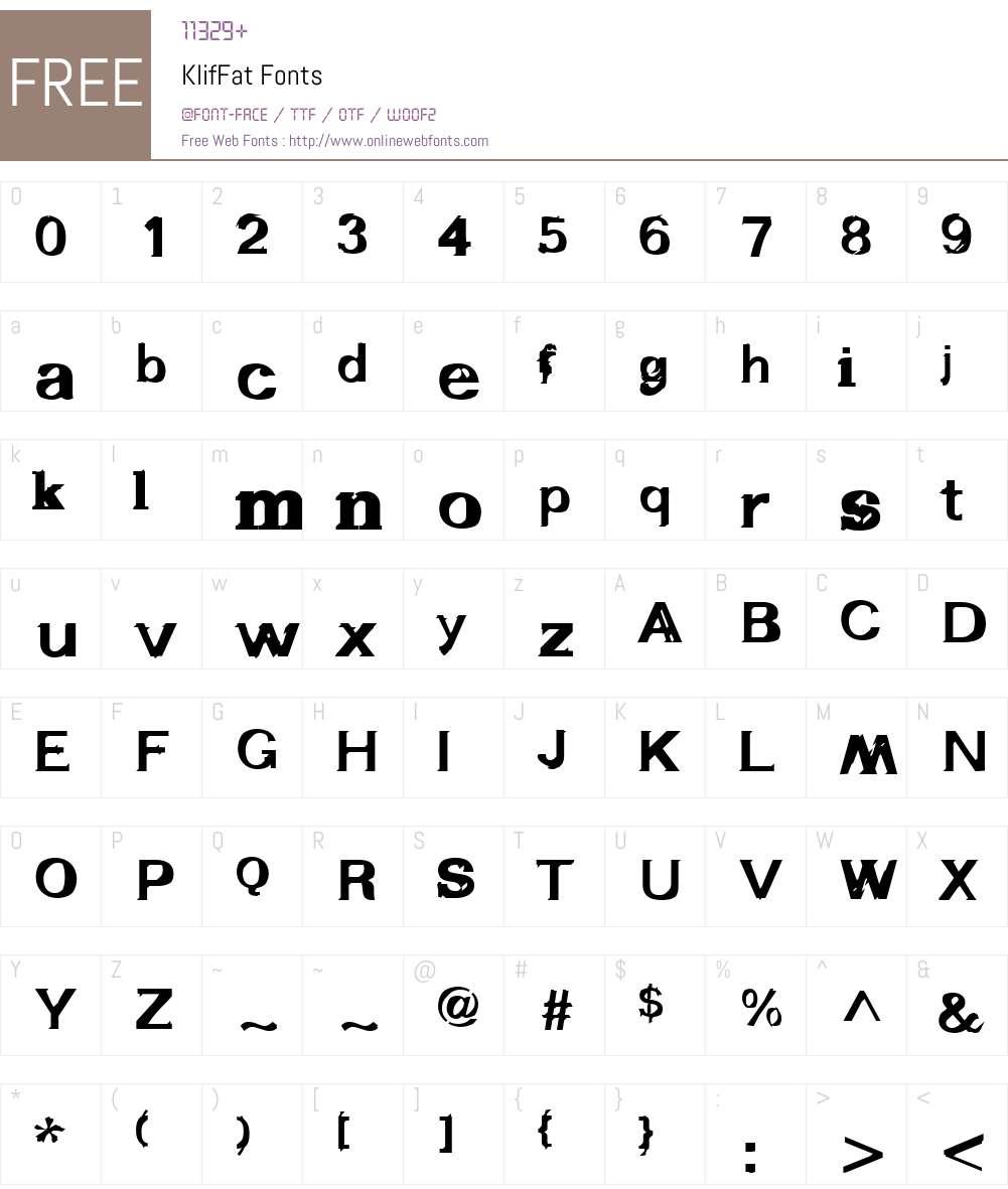 KlifW01-Fat Font Screenshots