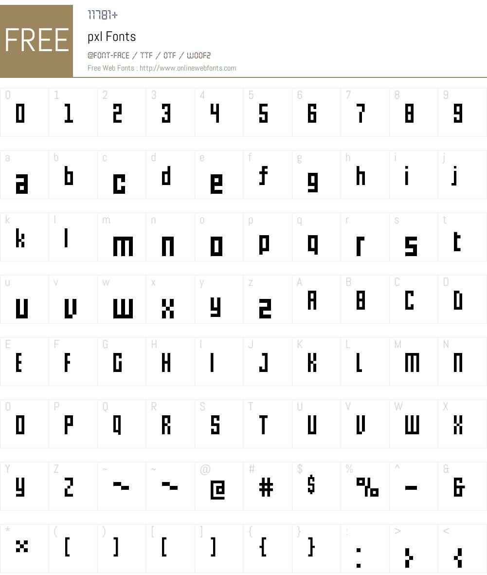 pxl Font Screenshots
