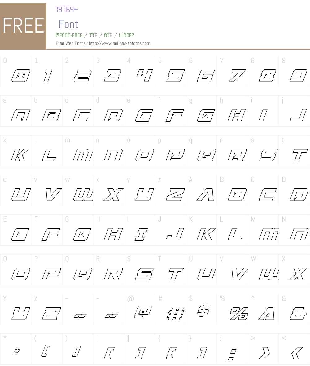 Starduster Shadow Italic Font Screenshots