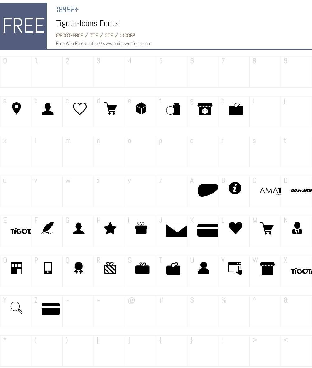 Tigota-Icons Font Screenshots