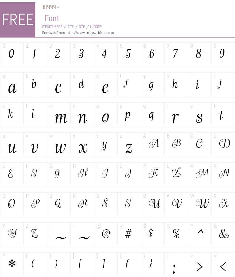 EmploiW01-Ingenue Font Screenshots