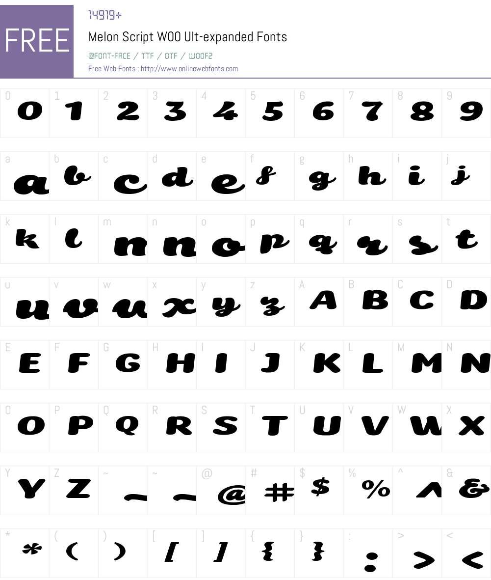MelonScriptW00-Ult-expanded Font Screenshots