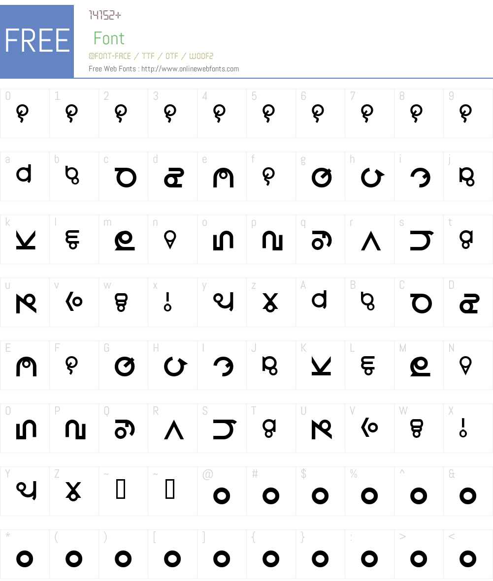 Roswell Wreckage Font Screenshots