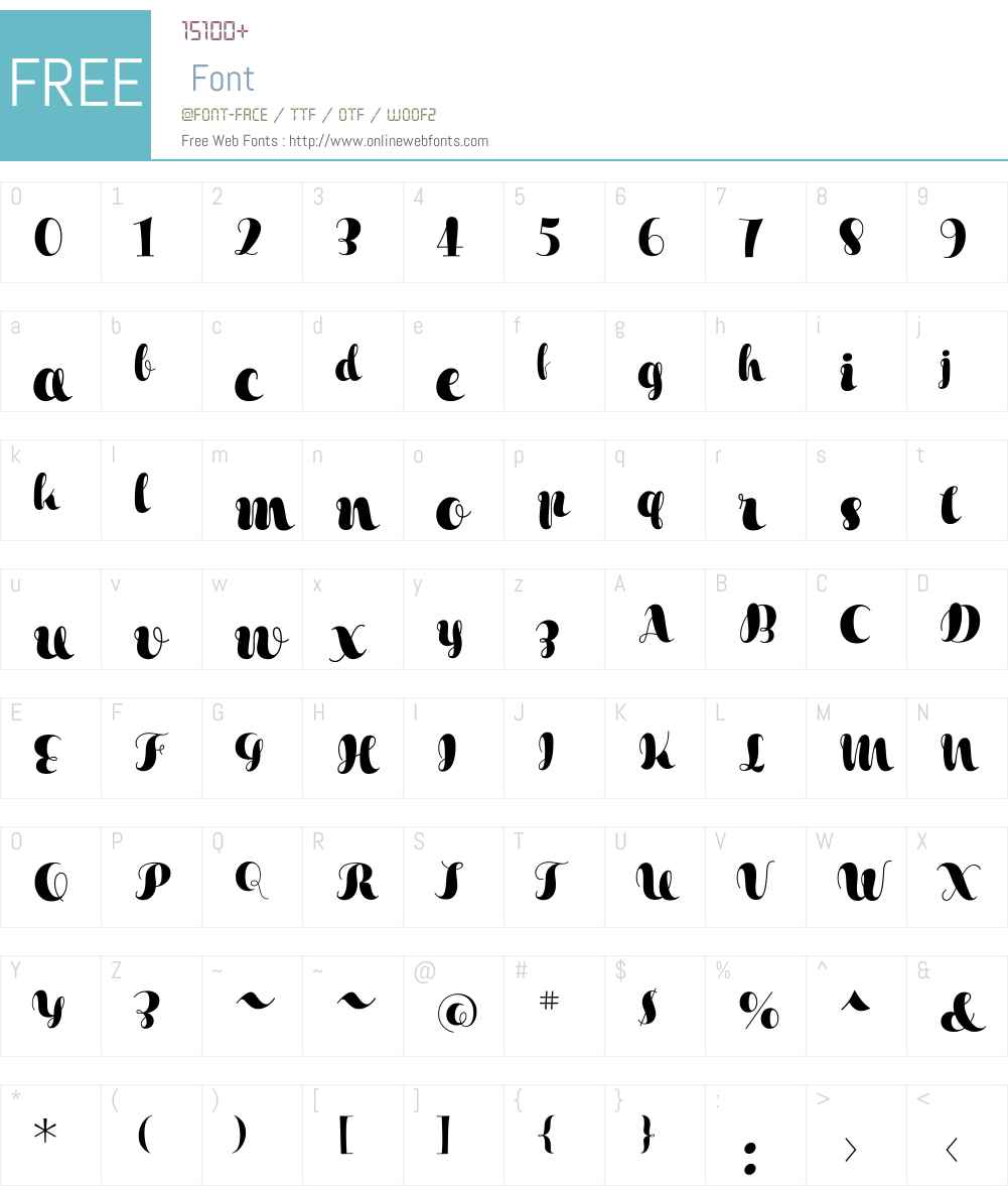 XesyW01-Regular Font Screenshots