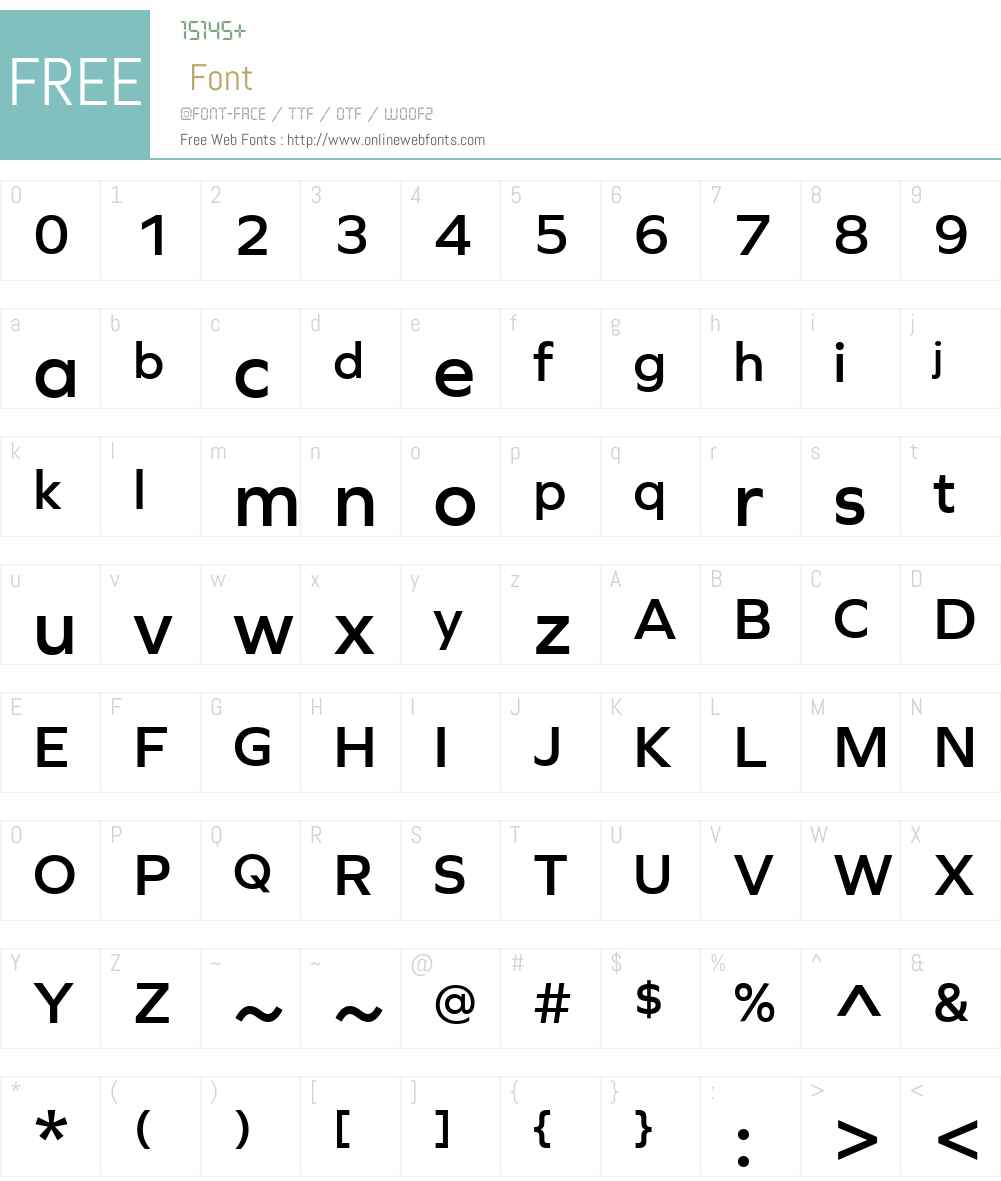 Graphie Font Screenshots