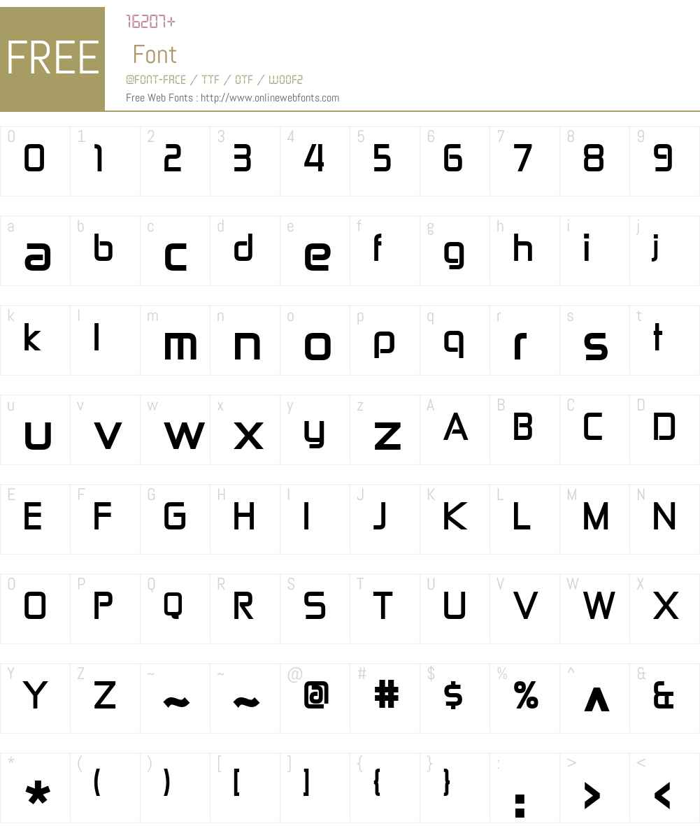 Zekton Font Screenshots