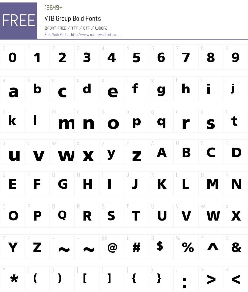 VTB Group Bold Font Screenshots