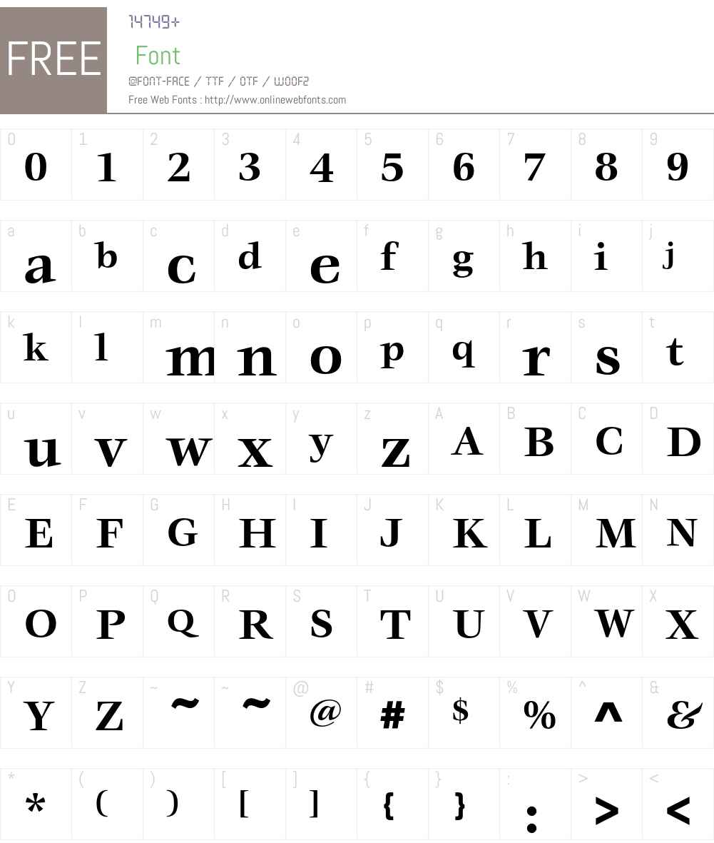 VeljovicEF Font Screenshots
