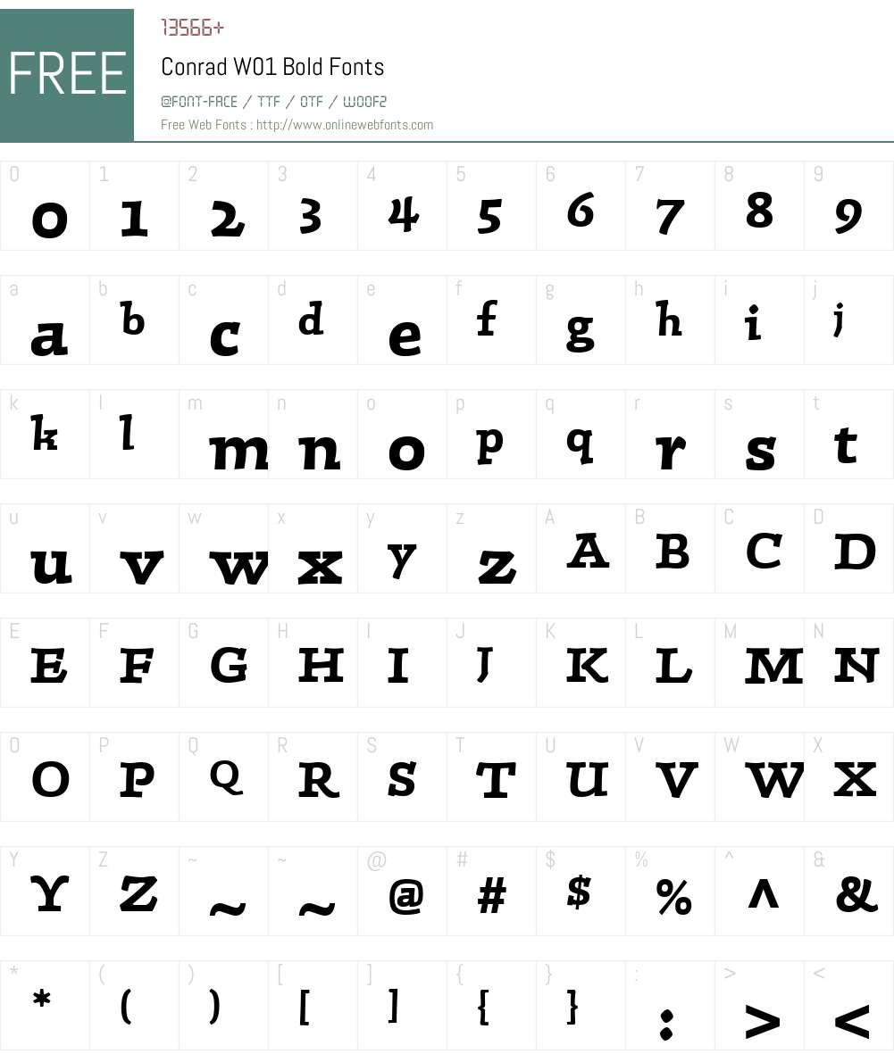 ConradW01-Bold Font Screenshots