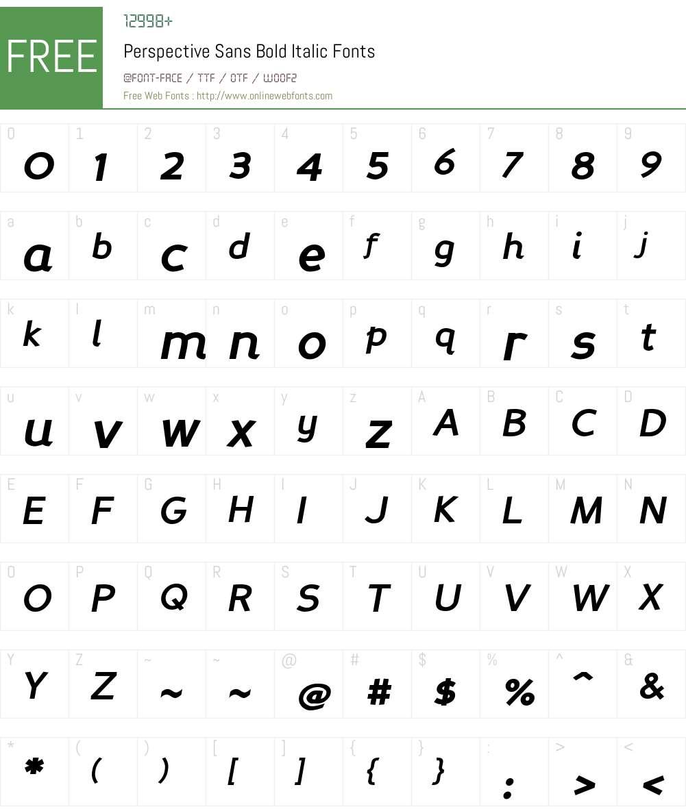 Perspective Sans Font Screenshots