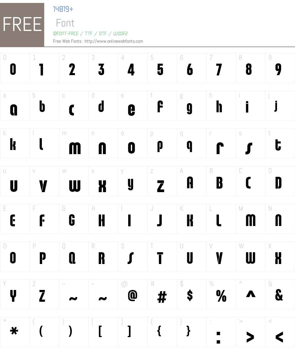 ChaletComprime Font Screenshots