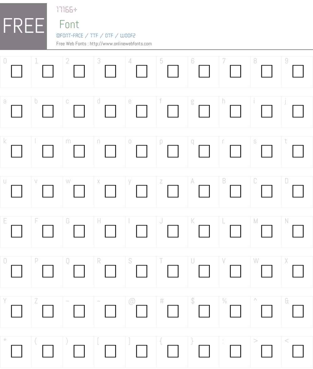 BARREL Font Screenshots