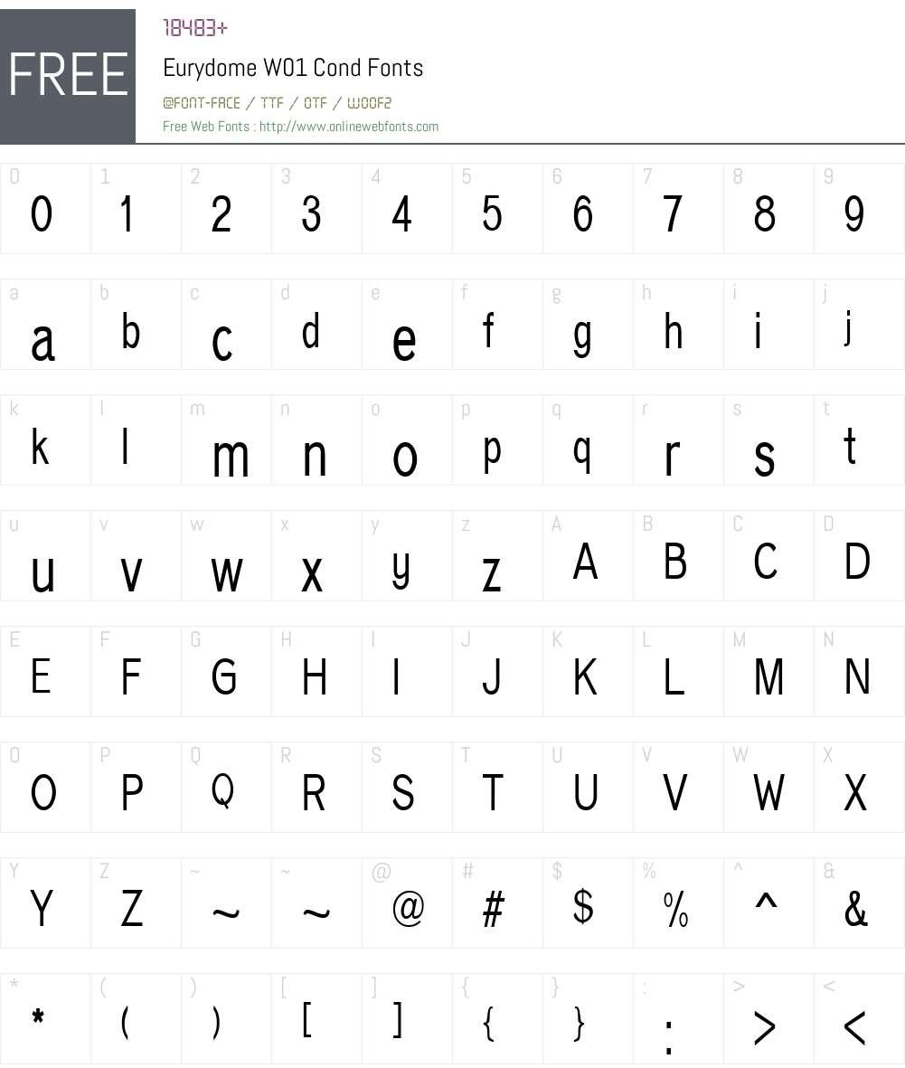 EurydomeW01-Cond Font Screenshots