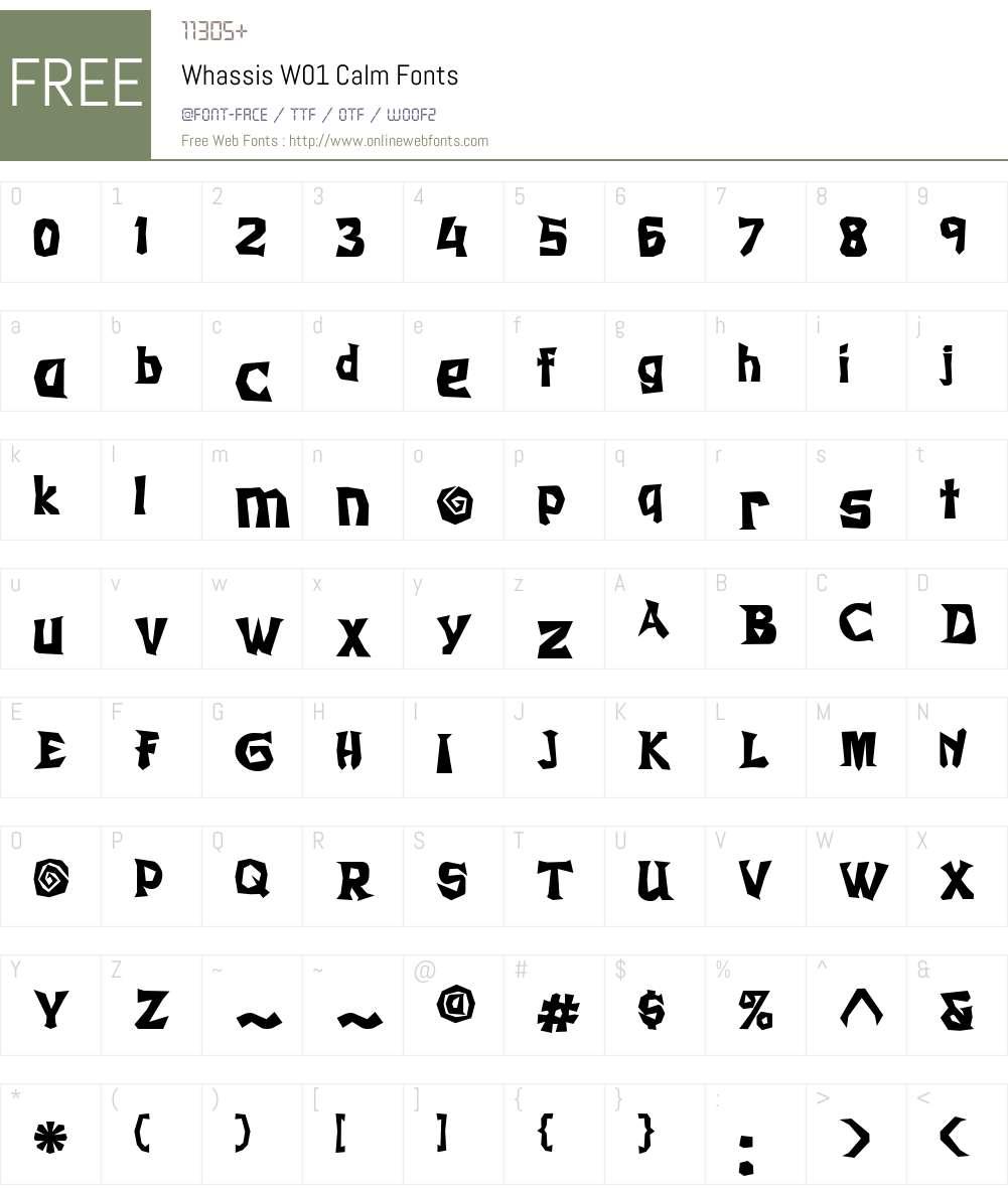 WhassisW01-Calm Font Screenshots