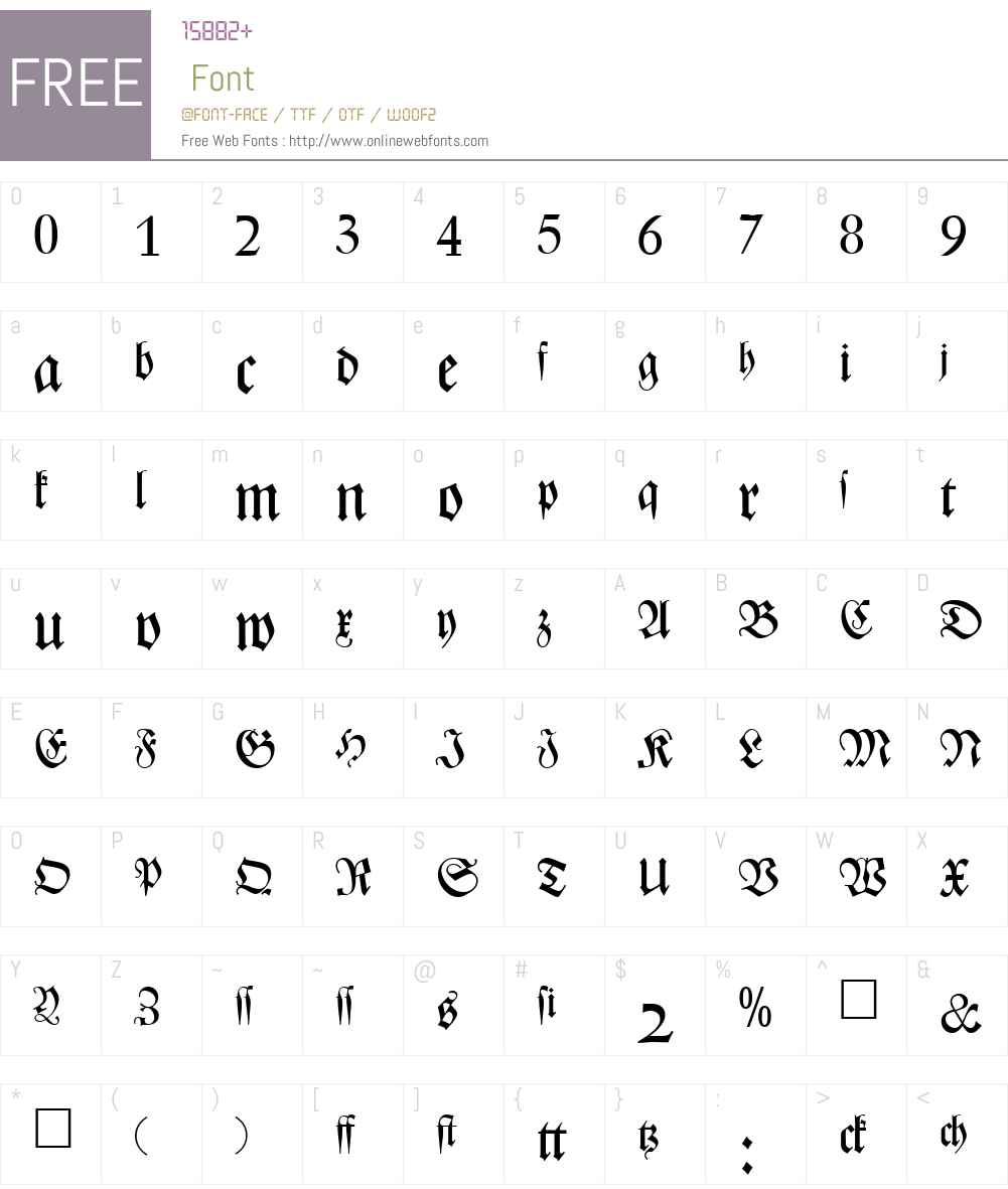 ZenithFraktur DB Font Screenshots
