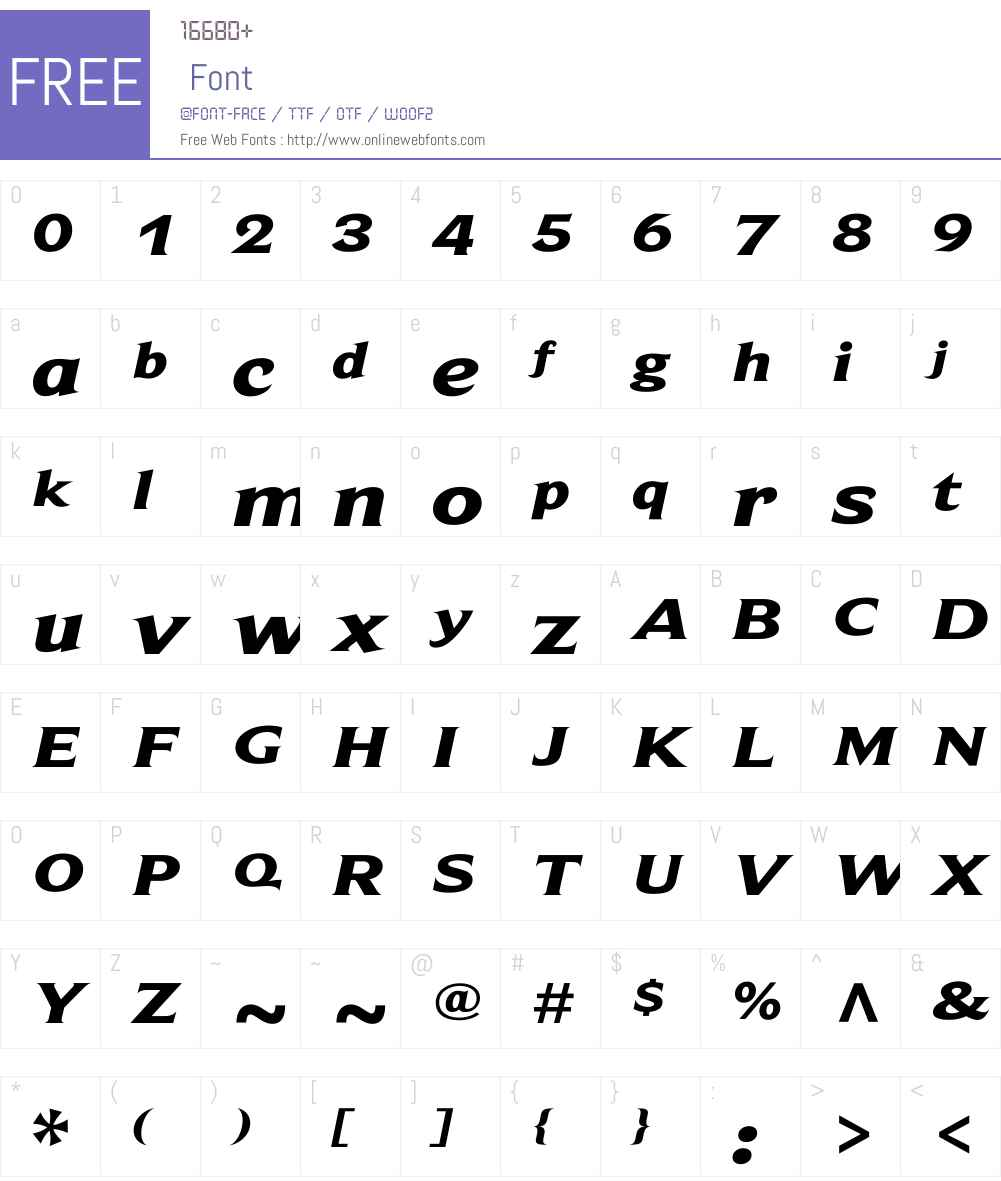 BeaufortW01-ExtdHeavyItalic Font Screenshots