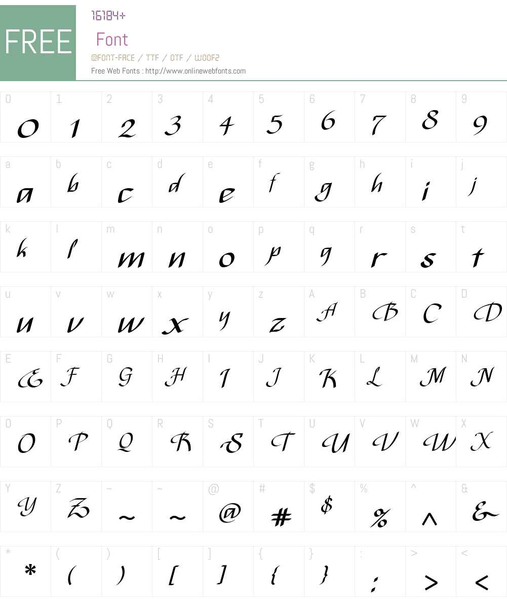 Bispo Font Screenshots