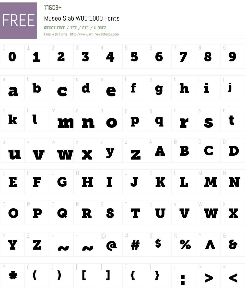 Museo Slab Font Screenshots