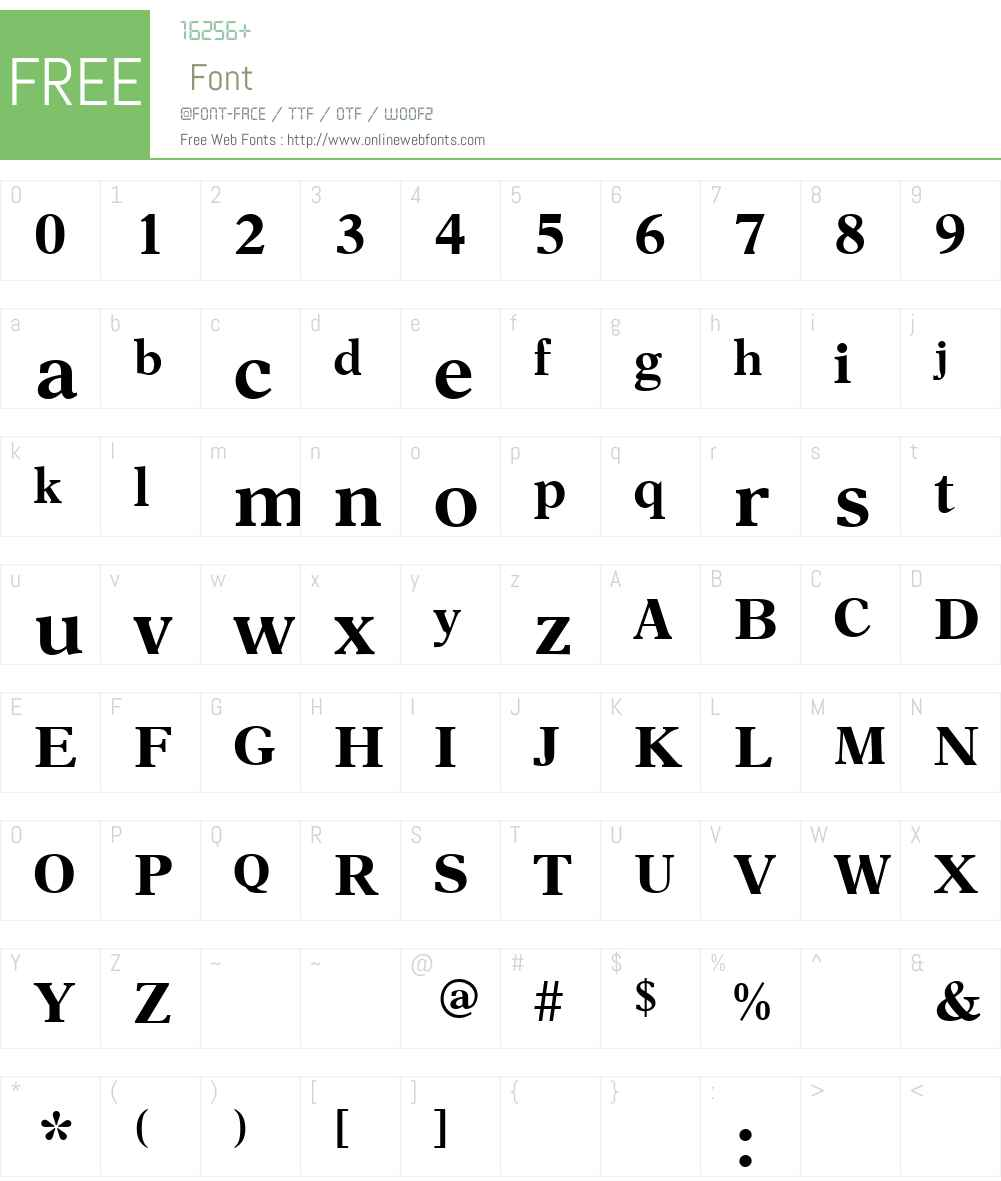 AsterW00-Medium Font Screenshots