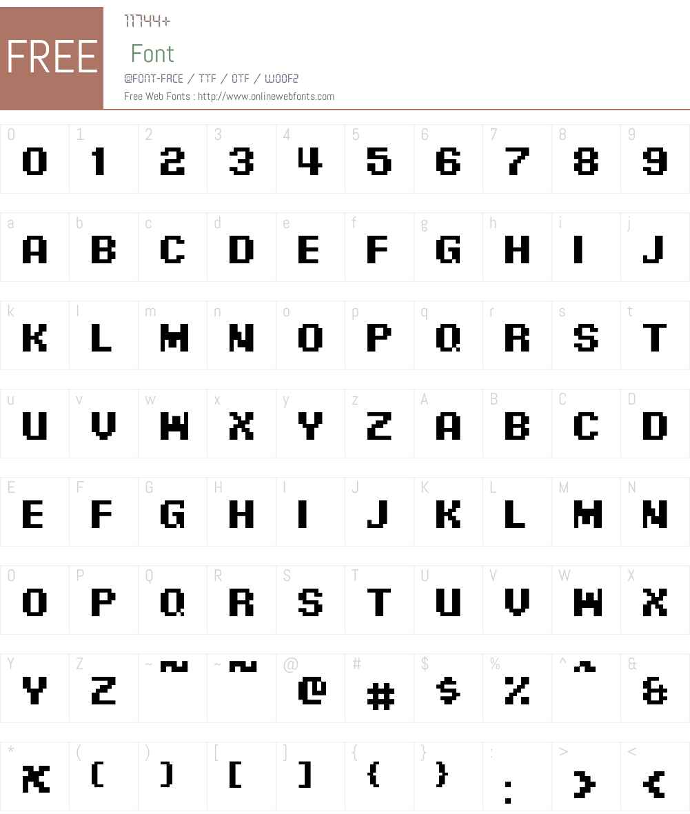 Pixel Digivolve Cyrillic Font Screenshots