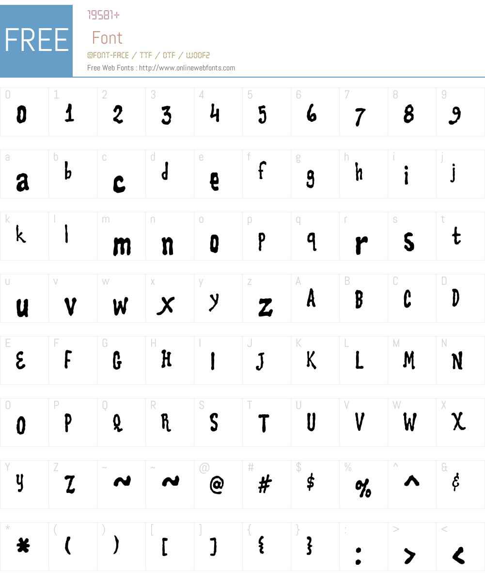CookieW00-Dough Font Screenshots