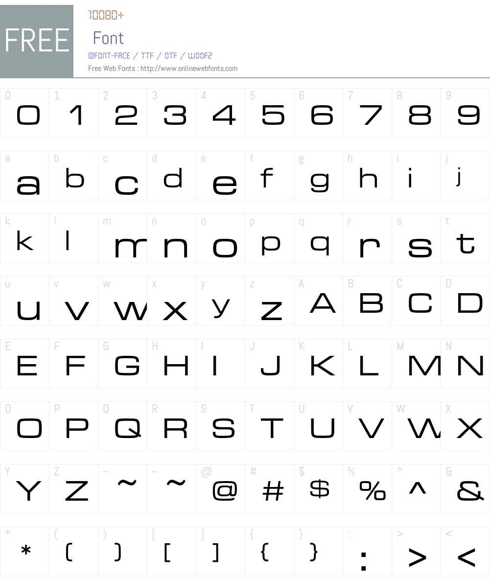 Microgramma D Font Screenshots