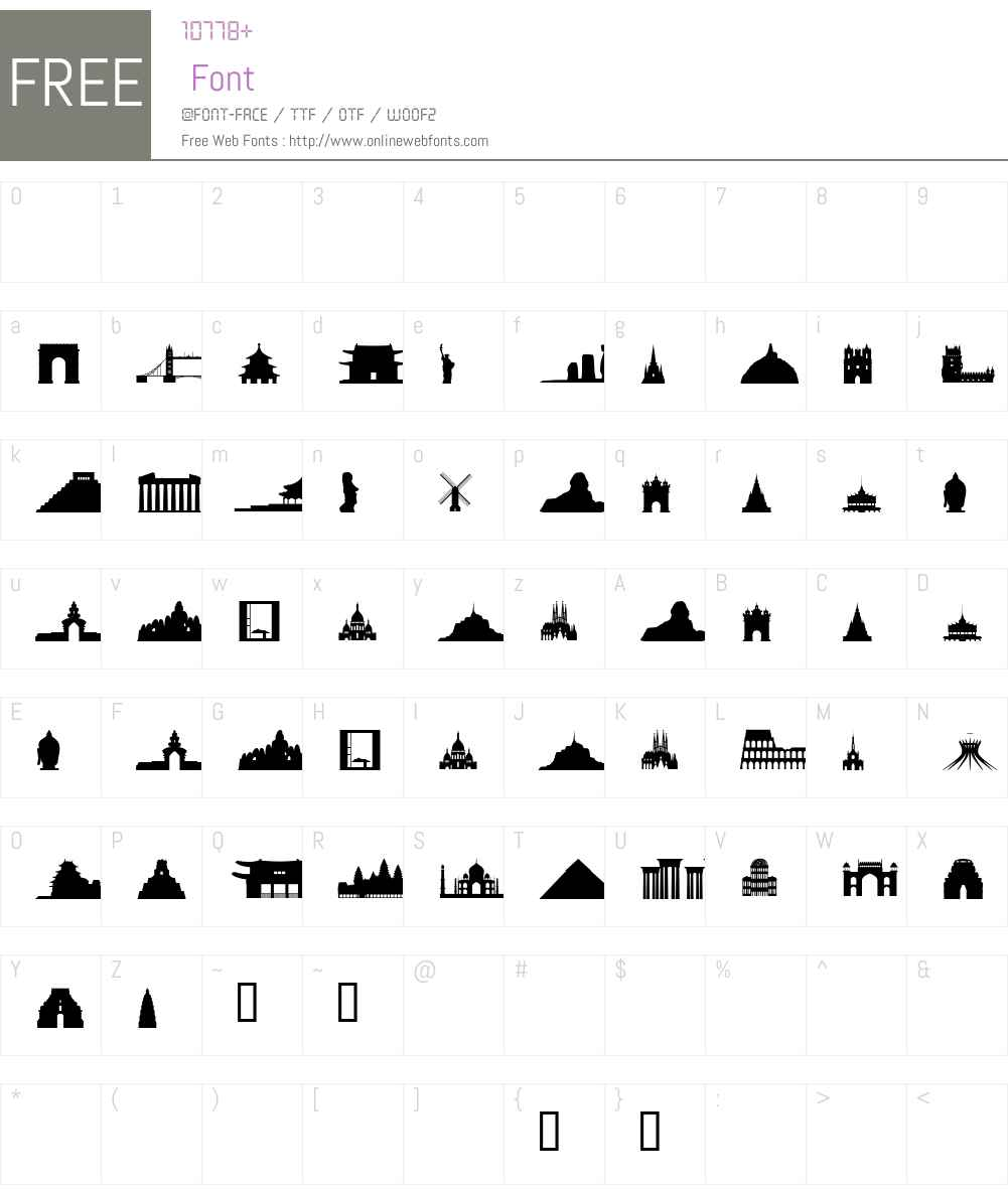 Human Font Screenshots