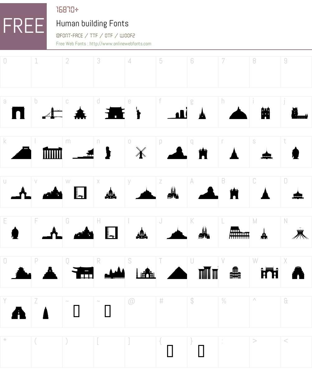 Human Font Screenshots