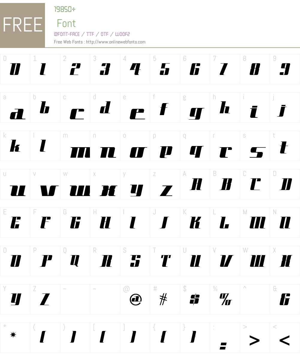 Space Cadet NF Font Screenshots