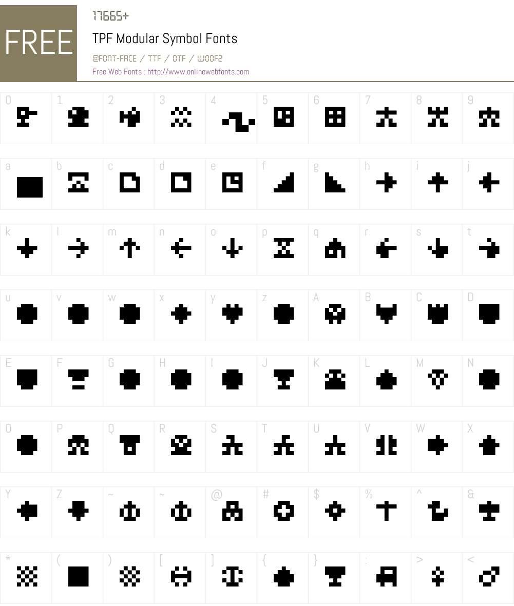 TPF Modular Symbol Font Screenshots