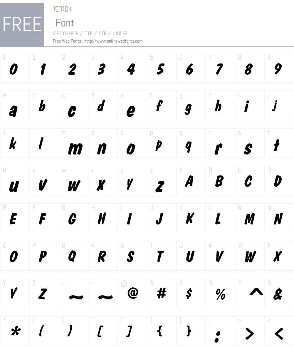 DomCasualW01-DiagonalBold Font Screenshots