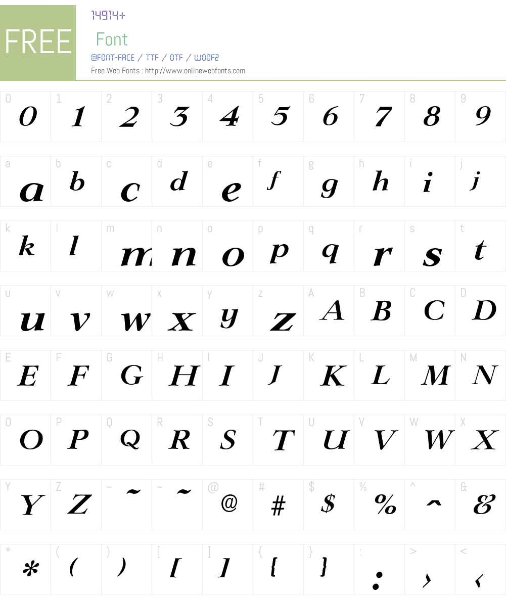 Lingwood-DemiBoldIta Font Screenshots