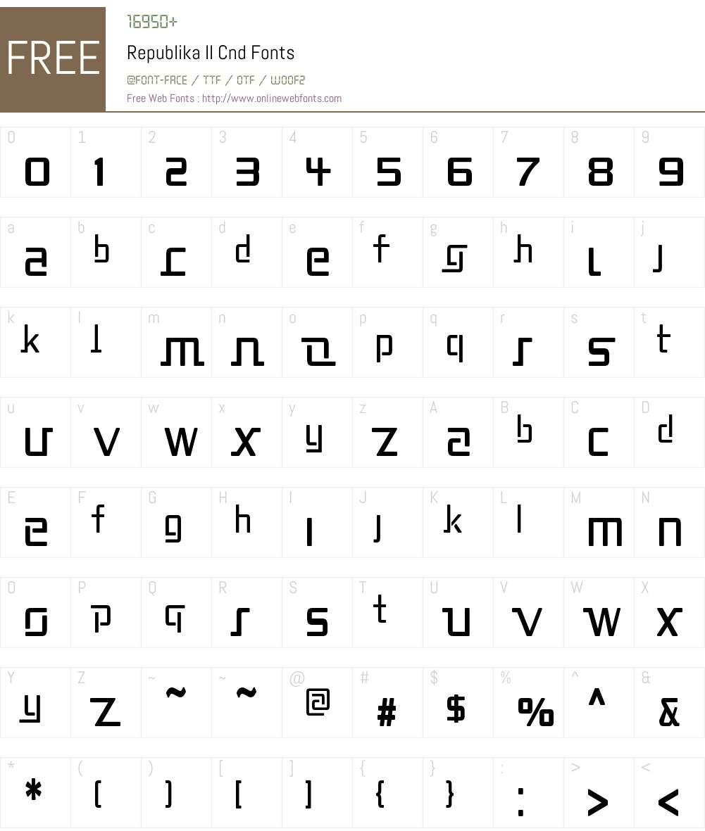 Republika II Cnd Font Screenshots