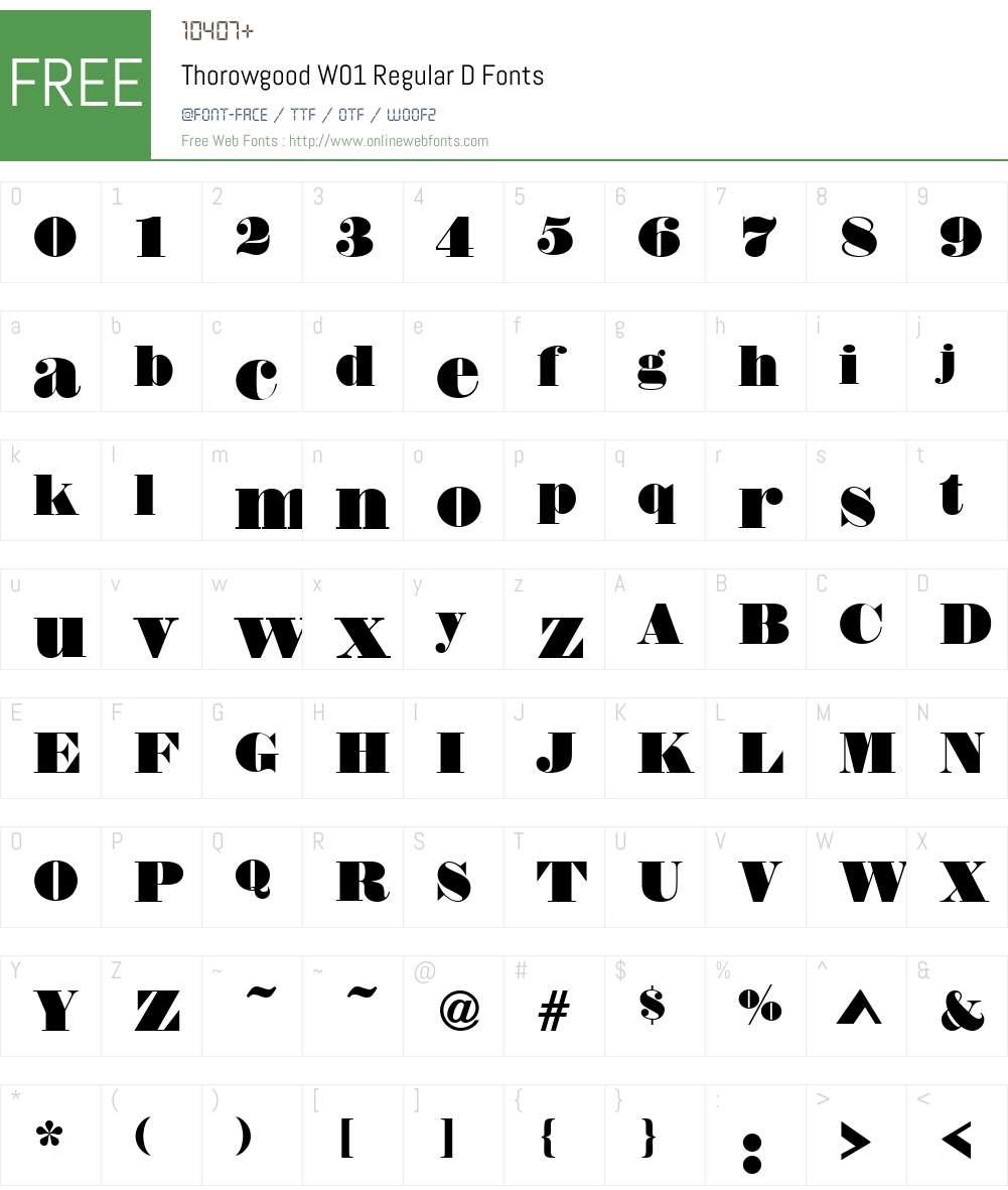 ThorowgoodW01-RegularD Font Screenshots