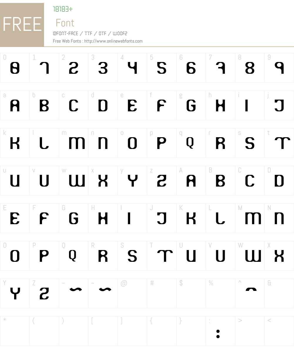 Kryogenic Font Screenshots