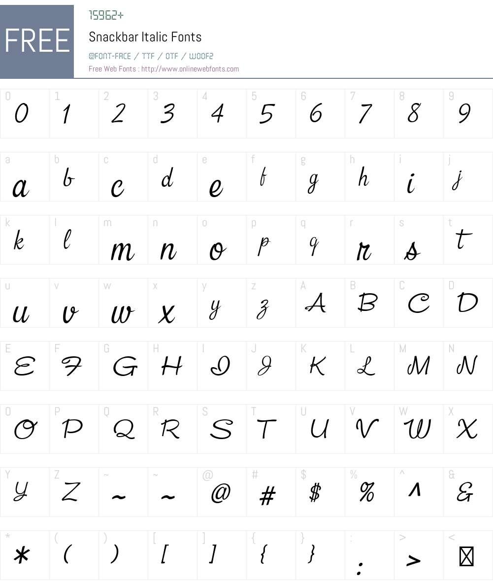 Snackbar-Italic Font Screenshots