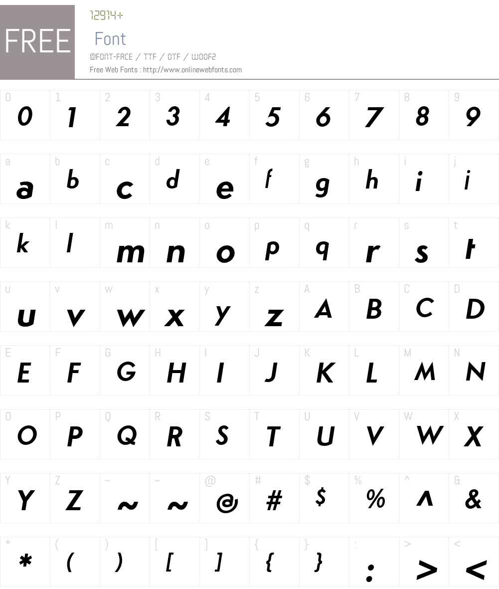 SimploW00-BoldItalic Font Screenshots